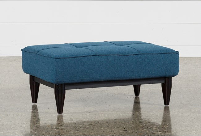 Paige Blue Convertible Ottoman - 360