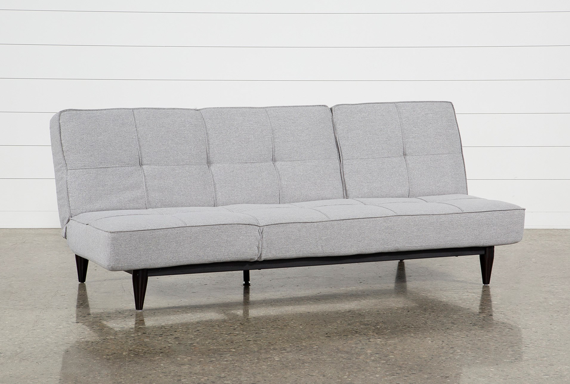 Paige Grey Convertible Sofa Chaise Sleeper | Living Spaces