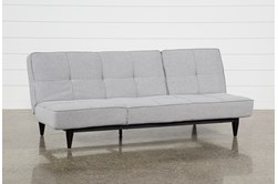 Paige Grey Convertible Sofa Chaise Sleeper