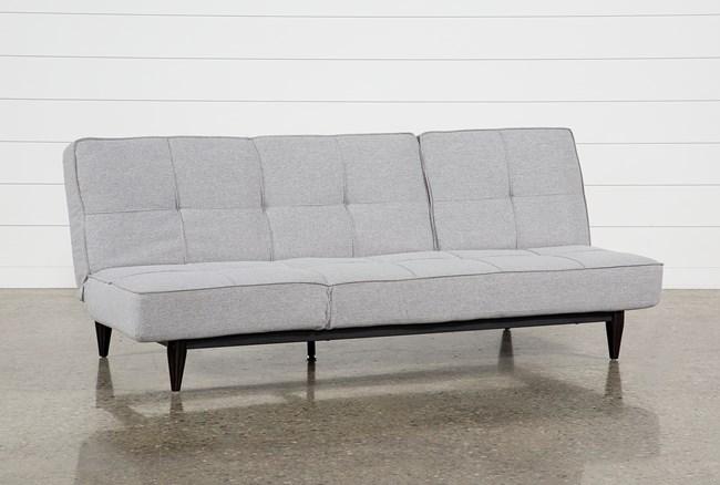 Paige Grey Convertible Sofa Chaise Sleeper - 360