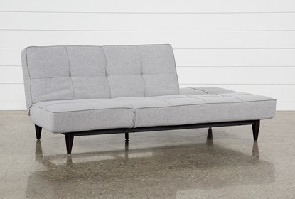 Grey Convertible Sofa Chaise Sleeper