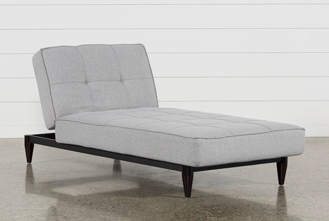 Paige Grey Convertible Chaise Sleeper - 360