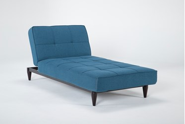 """Paige Blue 80"""" Convertible Chaise Sleeper"""