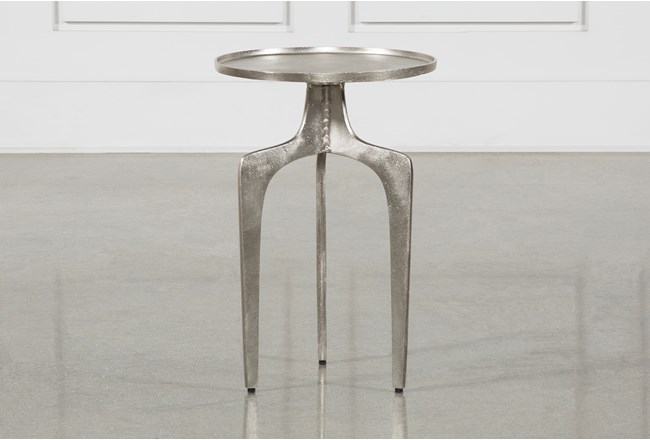 Gibson Silver Accent Table - 360