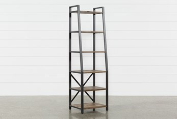Marvin Rustic Natural Bookcase Pier