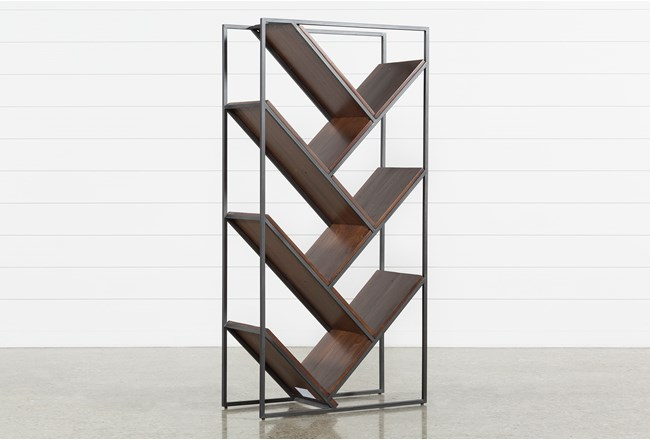 Marvin Coffee Bean Etagere Bookcase - 360