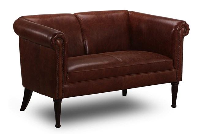 Honey Leather Settee - 360