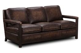 Chocolate Brown Top Grain Leather Sofa