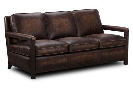 Chocolate Brown Top Grain Leather Sofa