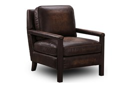 Chocolate Brown Top Grain Leather Chair