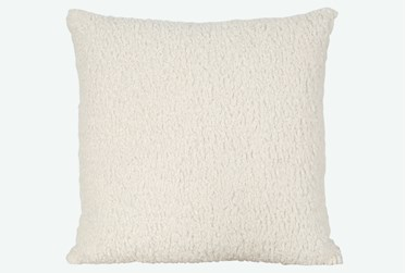 Accent Pillow-Sheepskin Natural 22X22 By Nate Berkus and Jeremiah Brent