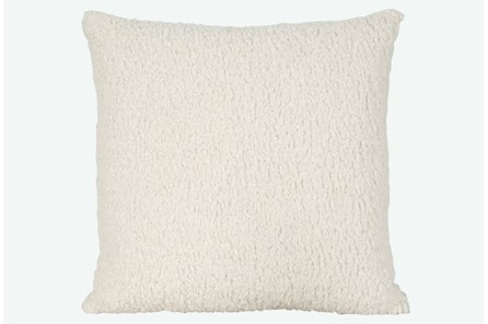 Accent Pillow-Sheepskin Natural 22X22 By Nate Berkus and Jeremiah Brent - Main