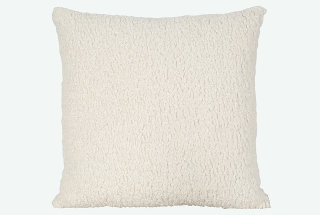 Accent Pillow-Sheepskin Natural 22X22 By Nate Berkus and Jeremiah Brent - 360