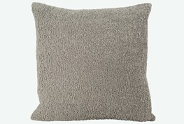Accent Pillow-Sheepskin Grey 22X22 N+J