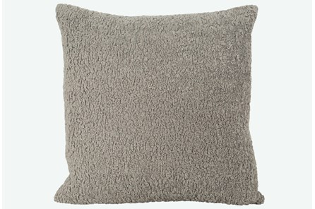 Accent Pillow-Sheepskin Grey 22X22 N+J - Main