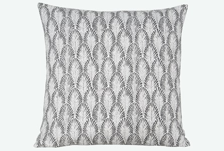 Accent Pillow-Plume Stone 22X22 N+J