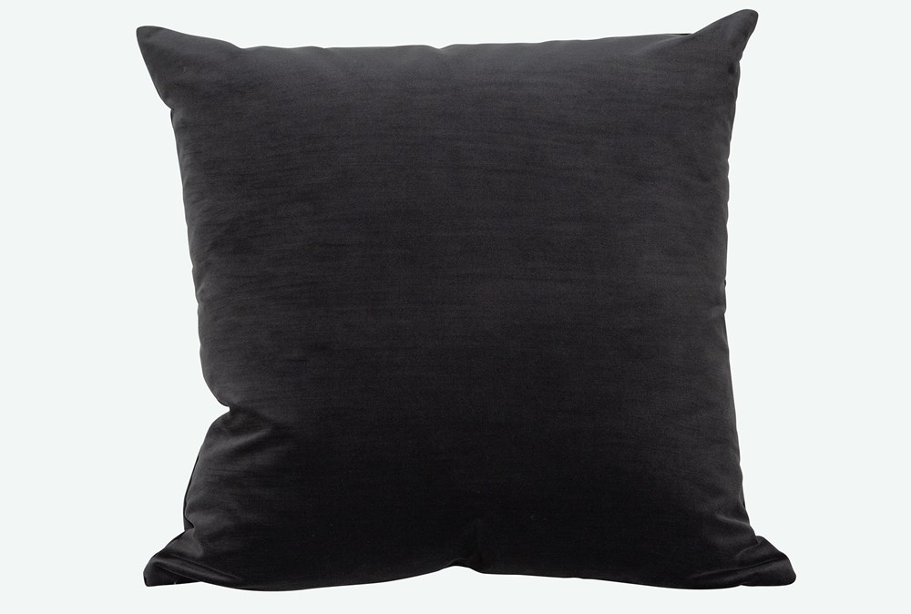 Accent Pillow-Monaco Coal 22X22 By Nate Berkus and Jeremiah Brent