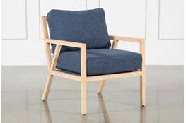 Navy White Oak Chair