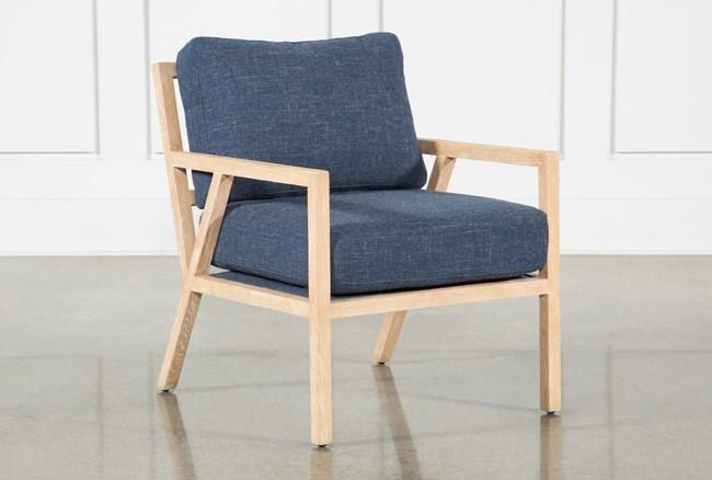Navy Gus Modern Chair - 360