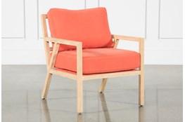 Tangerine White Oak Chair
