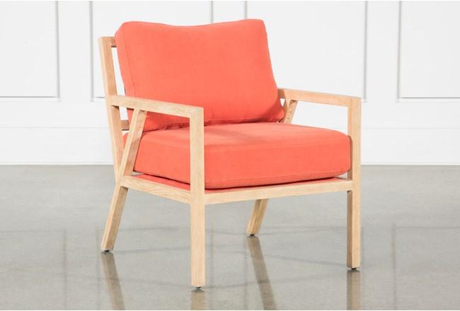 Tangerine White Oak Chair - 360