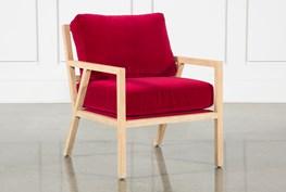 Red Velvet Gus Modern Chair