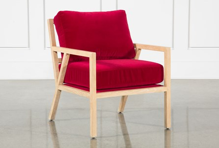 Red Velvet Gus Modern Chair