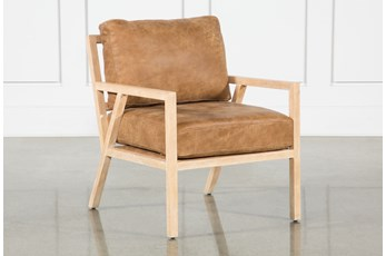 Cigar Leather White Oak Chair