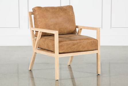 Cigar Leather Gus Modern Chair