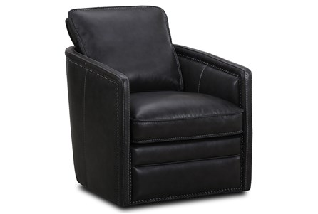 Slate Leather Swivel Chair