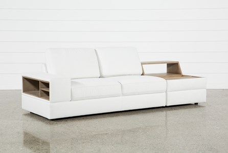 Larimar Stone 2 Piece Sectional With Left Arm Facing Sofa