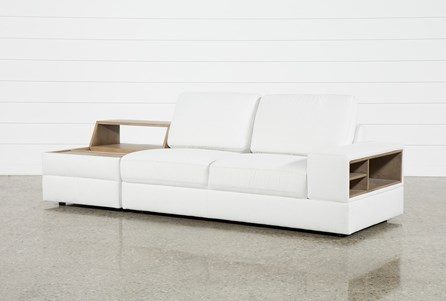 Larimar Stone 2 Piece Sectional With Right Arm Facing Sofa