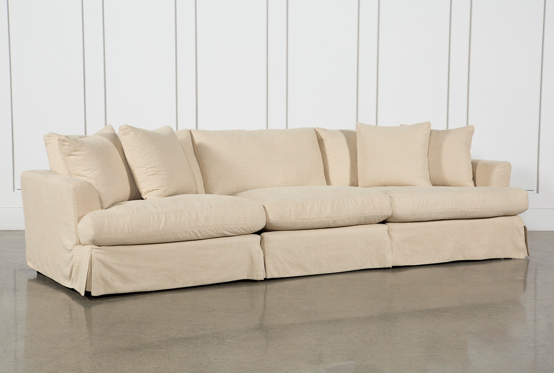 Solano Slipcovered 3 Piece Sofa Living Spaces