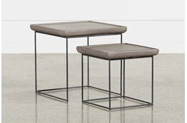 Outdoor Poipu Concrete Nesting Tables