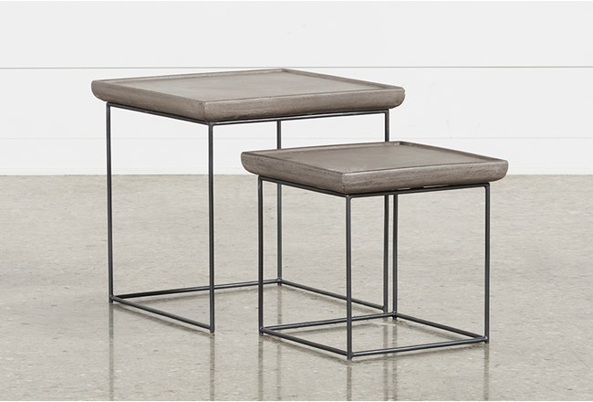 Outdoor Poipu Concrete Nesting Tables - 360