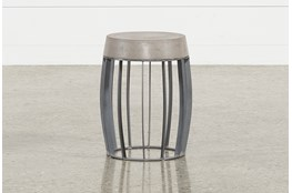 Outdoor Poipu Concrete Wire Base Accent Table