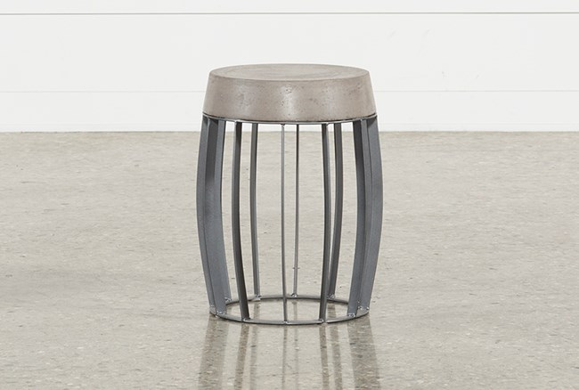 Outdoor Poipu Concrete Wire Base Accent Table - 360