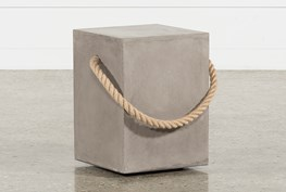 Outdoor Poipu Concrete & Rope  Square Accent Table