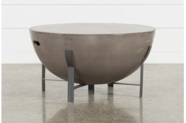 Outdoor Poipu Concrete Drum Coffee Table