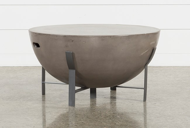 Outdoor Poipu Concrete Drum Coffee Table - 360