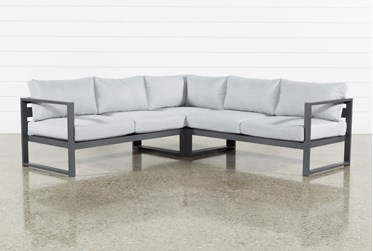 """Ravelo Outdoor 3 Piece 93"""" Sectional"""