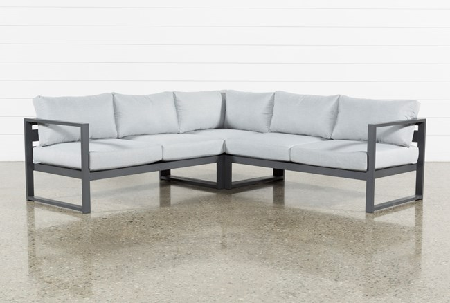 """Ravelo Outdoor 3 Piece 93"""" Sectional - 360"""