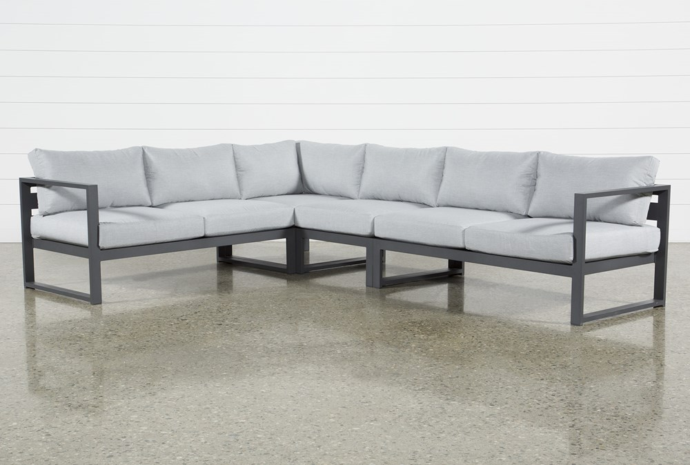 """Ravelo Outdoor 4 Piece 122"""" Sectional"""