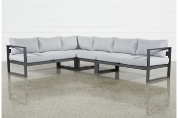 "Ravelo Outdoor 4 Piece 122"" Sectional"