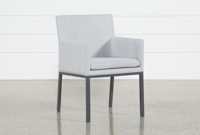 Outdoor Ravelo Upholstered Side Chair - 360