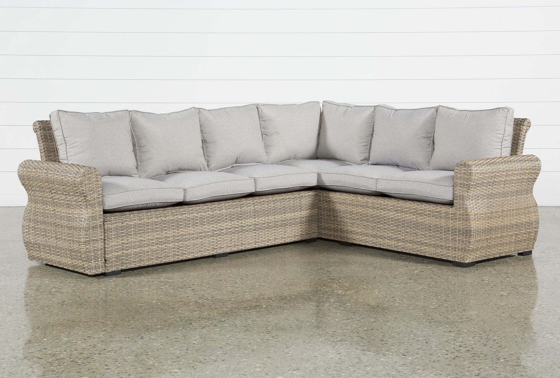 Outdoor Malta Banquette Sectional Living Spaces