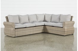 "Malta Outdoor Banquette 109"" Sectional"