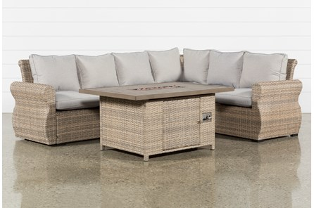 Outdoor Malta Firepit Banquette Lounge - Main