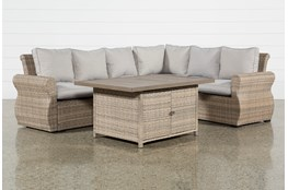 Malta Outdoor Storage Banquette Lounge