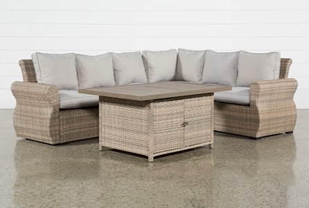 Outdoor Malta Storage Banquette Lounge